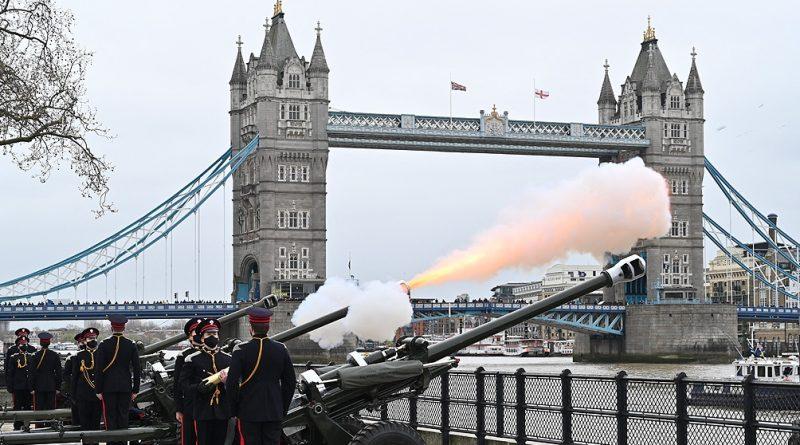Salvas en todo el Reino Unido para despedir y homenajear al príncipe Felipe